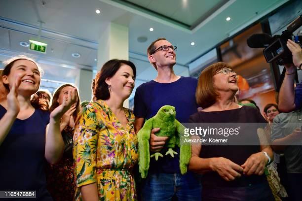 Annalena Baerbock, co-federal leader of the German Greens Party, Benjamin Raschke, co-lead candidate of the German Greens Party and Ursula...