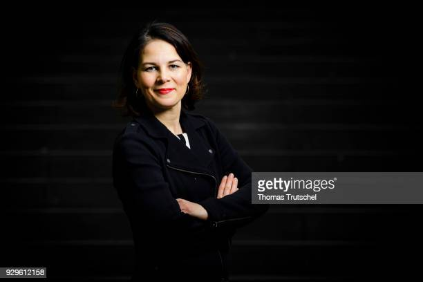 Annalena Baerbock coleader of the German Greens Party poses during a portrait session on March 06 2018 in Berlin Germany