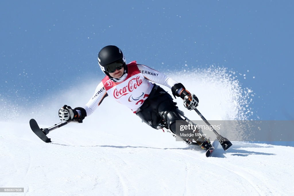 Anna-Lena Forster of Germany competes in the Women's Sitting Super-G at Jeongseon Alpine Centre on Day 2 of the PyeongChang 2018 Paralympic Games on March 11, 2018 in Pyeongchang-gun, South Korea.