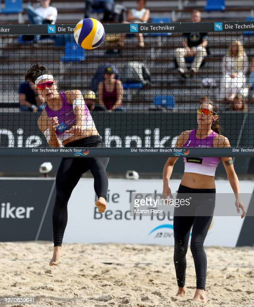 Anna-Lena Grüne and Kira Walkenhorst of Germany in action during the match against Lisa-Sophie Kotzan and Natascha Niemczyk of Germany on day two of...