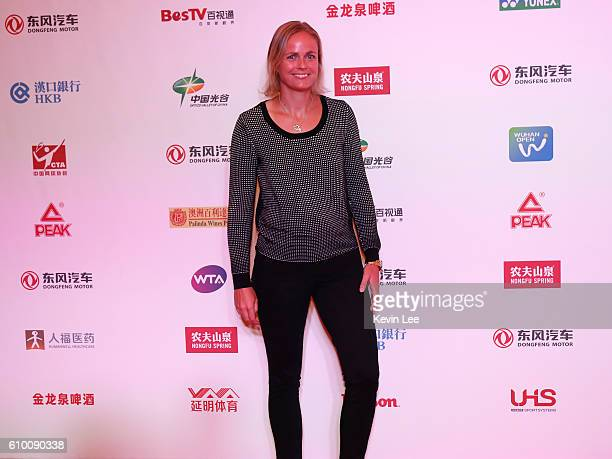 AnnaLena Groenefeld of Germany poses for a picture at DongFeng Motor Wuhan Open Player Party at Wanda Realm Hotel on September 24 2016 in Wuhan China