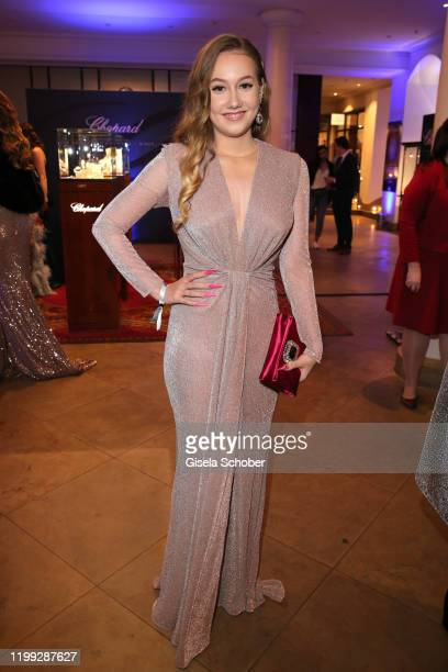 Annalena Kaiser daughter of Roland Kaiser during the reception prior the 15th Semper Opera Ball 2020 at the Taschenbergpalais near Semperoper on...