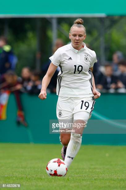 Annalena Rieke of Germany during the international friendly match between U19 Women's Germany and U19 Women's USA at OBI Arena on July 2 2017 in...