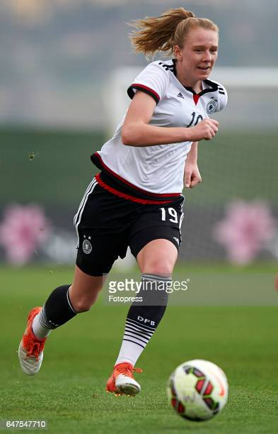 Annalena Rieke of Germany in action during the international friendly match between Germany Women U19 and Netherlands Women U19 at La Manga Club on...