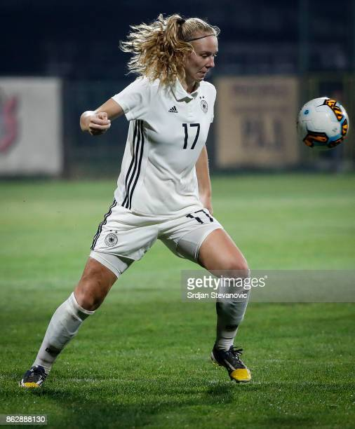 Annalena Rieke of Germany in action during the international friendly match between U19 Women's Serbia and U19 Women's Germany at stadium Kralj Petar...
