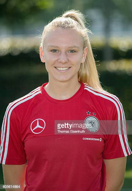Annalena Rieke of the Under17 national girl's team of Germany during the official photo session on September 14 2016 in Bad Blankenburg Germany