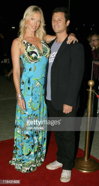 Annaliese Braakansiek and Danny Goldman during Fantastic Four Rise of the Silver Surfer Media Call May 2 2007 at Fox Studios in Sydney NSW Australia