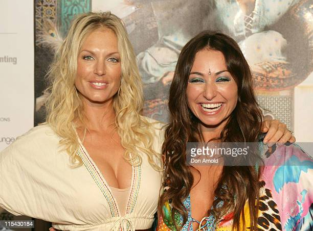 Annaliese Braakinsiek and Camilla Franks during Camilla Franks Women of the World Book Launch April 4 2007 at King Street Wharf in Sydney NSW...