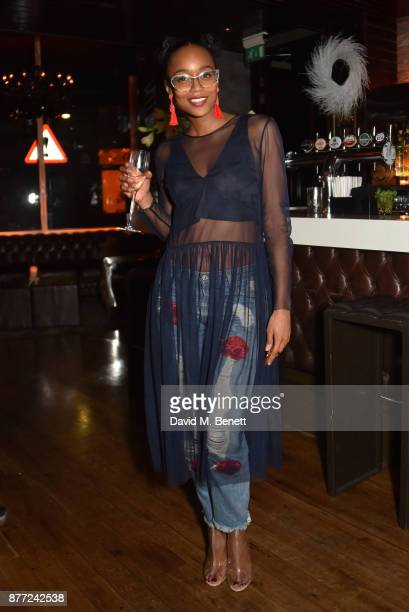 Annaliese Dayes attends Mason Smillie's birthday party at McQueen on November 21 2017 in London England