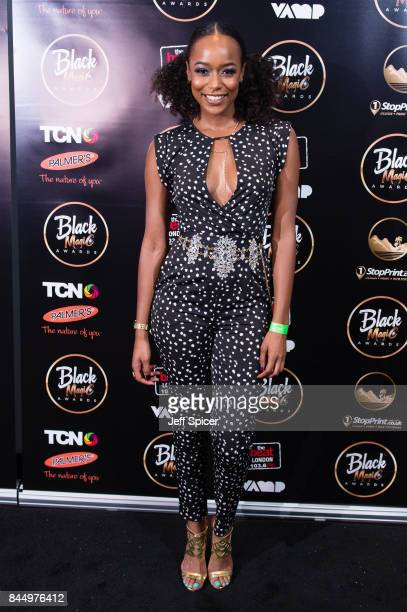 Annaliese Dayes attends the Black Magic Awards at Hackney Empire on September 9 2017 in London England