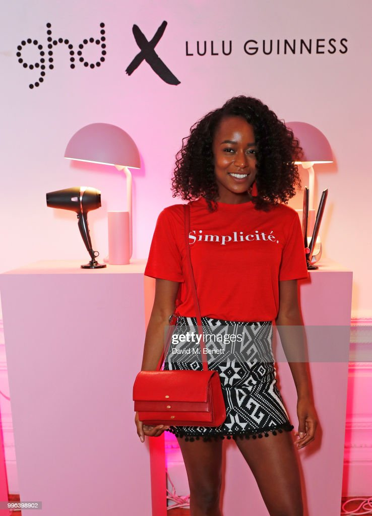 Annaliese Dayes attends the launch of the new ghd x Lulu Guinness collection, which raises money for Breast Cancer Now, at One Belgravia on July 11, 2018 in London, England.