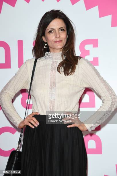 Annalisa Aglioti walks the red carpet ahead of the 'All You Ever Wished For' screening during the 13th Rome Film Fest at Auditorium Parco Della...