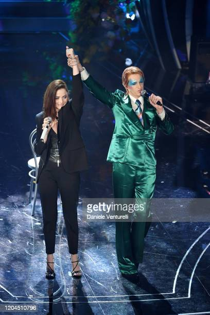 Annalisa and Achille Lauro attend the 70° Festival di Sanremo at Teatro Ariston on February 06 2020 in Sanremo Italy