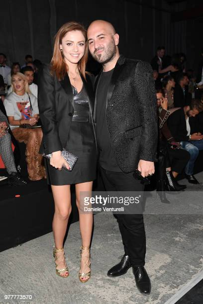 Annalisa and Giuliano Sangiorgi attend Dsquared2 show during Milan Men's Fashion Spring/Summer 2019 on June 17 2018 in Milan Italy