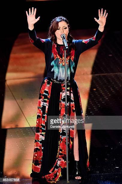 Annalisa attends the closing night of 65th Festival di Sanremo 2015 at Teatro Ariston on February 14 2015 in Sanremo Italy