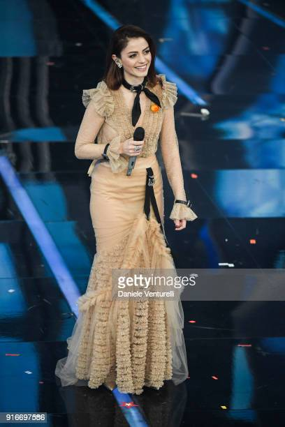 Annalisa attends the closing night of the 68 Sanremo Music Festival on February 10 2018 in Sanremo Italy