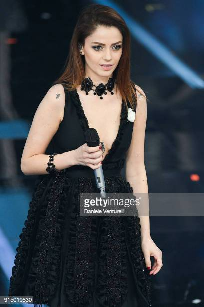 Annalisa attends the first night of the 68 Sanremo Music Festival on February 6 2018 in Sanremo Italy