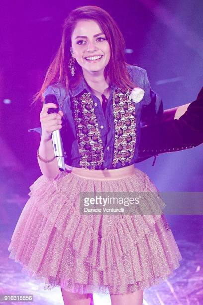 Annalisa attends the fourth night of the 68 Sanremo Music Festival on February 9 2018 in Sanremo Italy