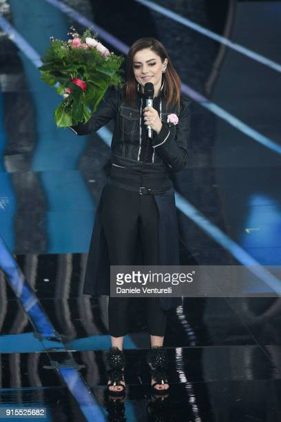 Annalisa attends the second night of the 68 Sanremo Music Festival on February 7 2018 in Sanremo Italy