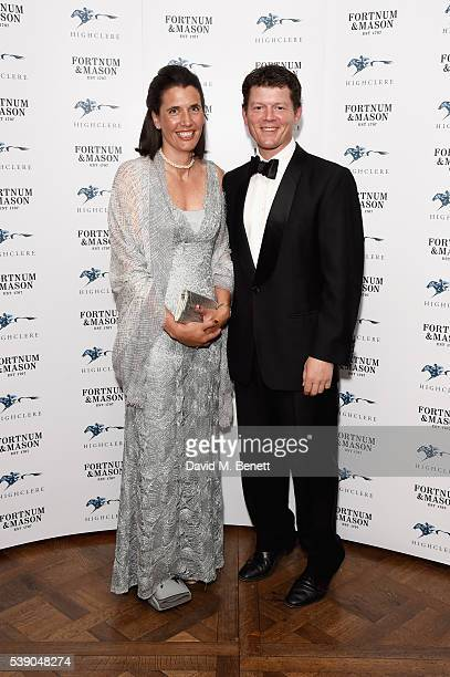AnnaLisa Balding and Andrew Balding attend the Highclere Thoroughbred Racing Royal Ascot preview evening at Fortnum Mason on June 9 2016 in London...