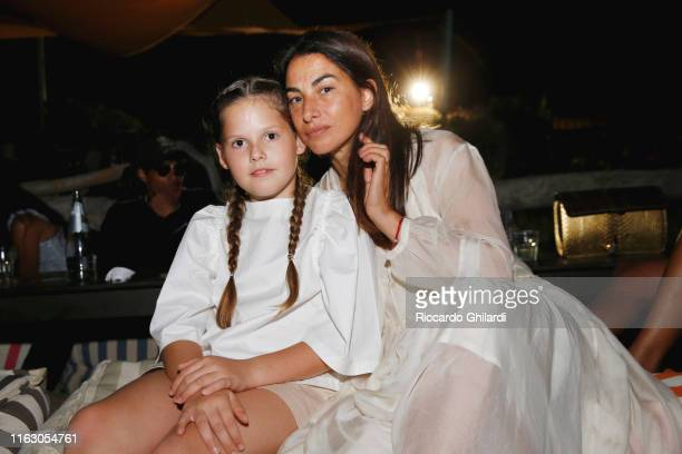 Annalisa Bugliani and her daughter attend the welcome dinner celebrating the opening of Rachel Lee Hovnanian's museum show Open Secrets at Alle Boe...