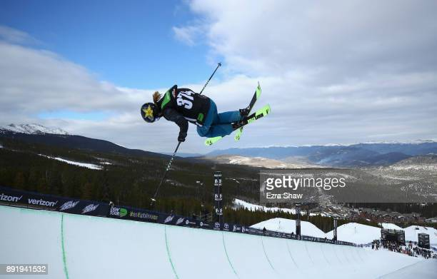 Annalisa Drew competes in the women's Ski Superpipe qualification during Day 1 of the Dew Tour on December 13 2017 in Breckenridge Colorado