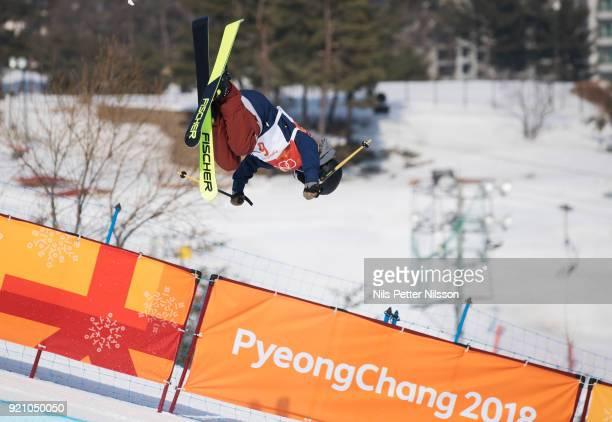 Annalisa Drew of USA during the women's Halfpipe Freestyle Skiing at Phoenix Snow Park on February 20 2018 in Pyeongchanggun South Korea