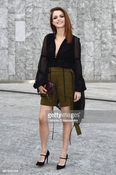 Annalisa Scarrone arrives at Convivio 2018 on June 5 2018 in Milan Italy