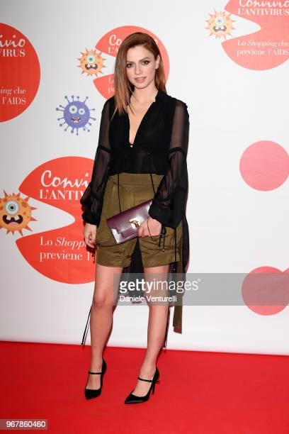 Annalisa Scarrone attends Convivio photocall on June 5 2018 in Milan Italy
