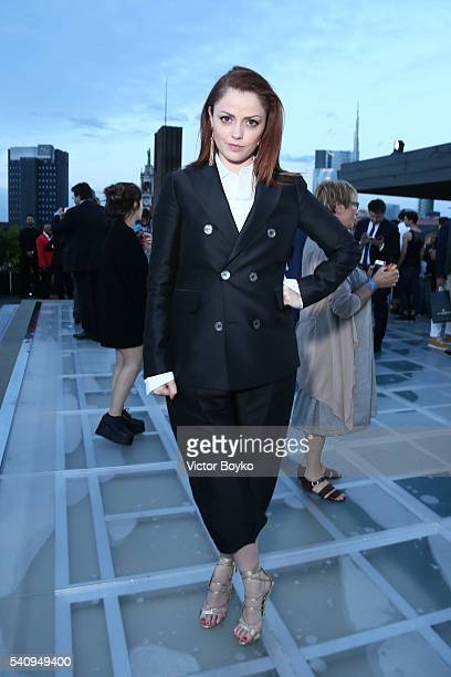 Annalisa Scarrone attends Dsquared2 Aftershow Sunset Cocktail at Ceresio 7 on June 17 2016 in Milan Italy