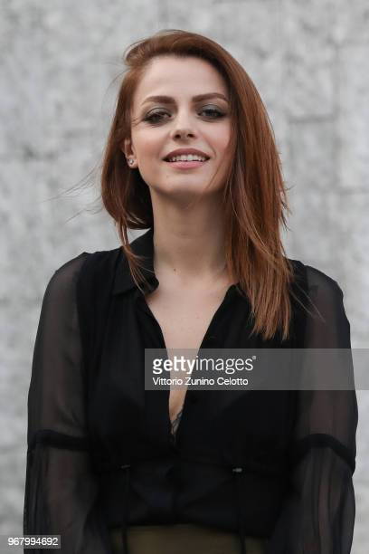 Annalisa Scarrone poses on June 5 2018 in Milan Italy