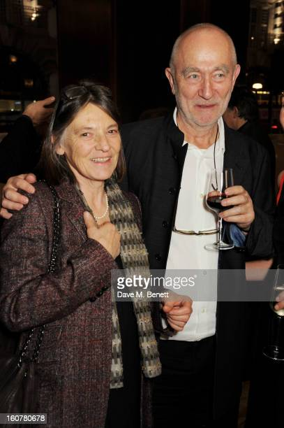 Annalisa ZumthorCuorad and Peter Zumthor attend a reception hosted by Sir David Chipperfield to celebrate the awarding of the RIBA Royal Gold Medal...