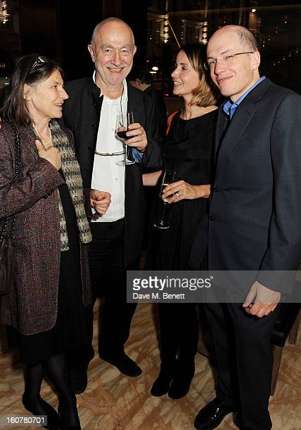 Annalisa ZumthorCuorad Peter Zumthor Charlotte de Botton and Alain de Botton attend a reception hosted by Sir David Chipperfield to celebrate the...
