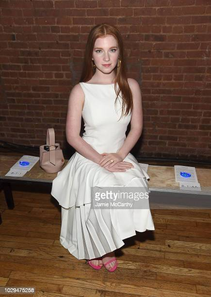 Annalise Basso attends the Adeam fashion show front row during New York Fashion Week on September 8 2018 in New York City