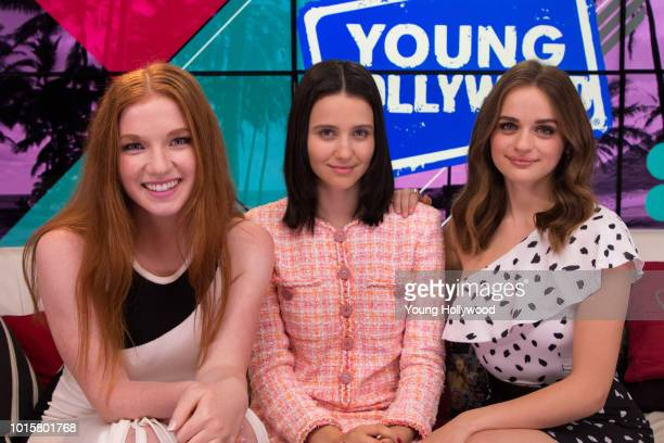 Annalise Basso Julia GoldaniTelles Joey King visits the Young Hollywood Studio on August 8 2018 in Los Angeles California