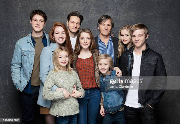 Annalise Basso Nicholas Hamilton Viggo Mortensen Samantha Isler Charlie Shotwell Matt Ross Erin Moriarty Shree Crooks and George MacKay of 'Captain...