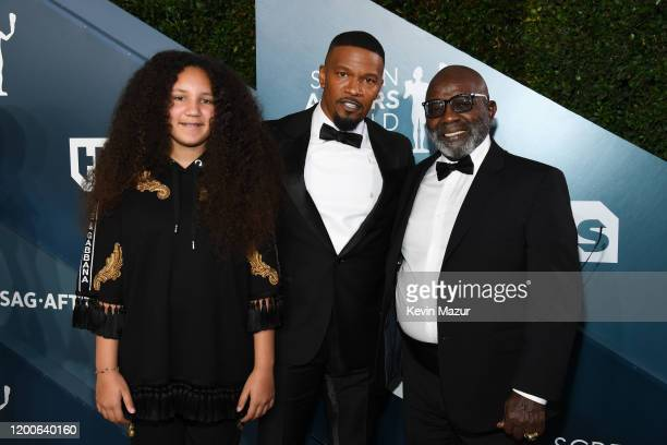 Annalise Bishop Jamie Foxx and Darrell Bishop attend the 26th Annual Screen Actors Guild Awards at The Shrine Auditorium on January 19 2020 in Los...