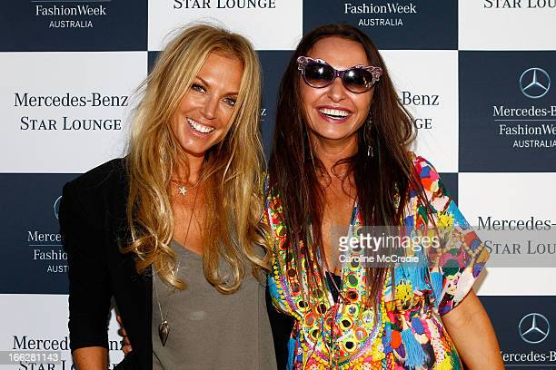 Annalise Braakensiek and Camilla Franks attend the Star Lounge at MercedesBenz Fashion Week Australia Spring/Summer 2013/14 at Carriageworks on April...