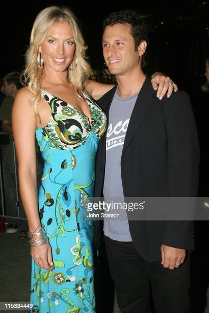 Annalise Braakensiek and guest during 'Fantastic Four Rise of the Silver Surfer' Media Call May 2 2007 at Fox Studios in Sydney NSW Australia