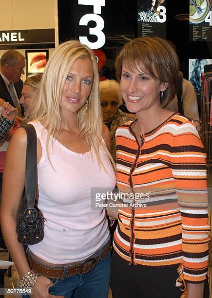 Annalise Braakensiek and Natalie Barr attend the opening of the new Myer department store at Bondi Junction on April 21 2004 in Sydney Australia