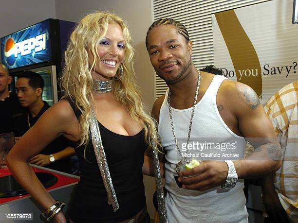Annalise Braakensiek and Xzibit during 2005 MTV Australia Video Music Awards Green Room at Big Top Luna Park in Sydney New South Wales Australia