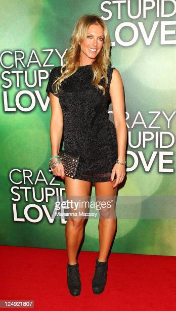 Annalise Braakensiek arrives at the Sydney premiere of 'Crazy Stupid Love' at Event Cinemas on September 14 2011 in Sydney Australia