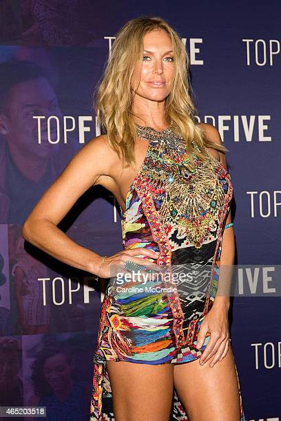 Annalise Braakensiek arrives at the Top Five special screening with Chris Rock on March 4 2015 in Sydney Australia