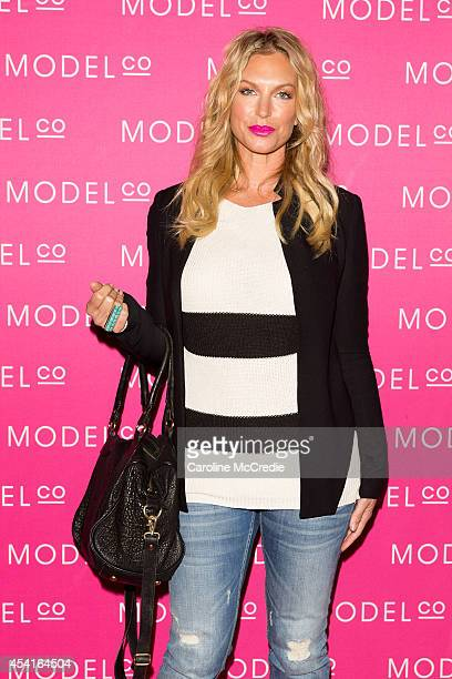 Annalise Braakensiek attends the launch of ModelCo natural skincare collection at Customs House on August 26 2014 in Sydney Australia ModelCo...