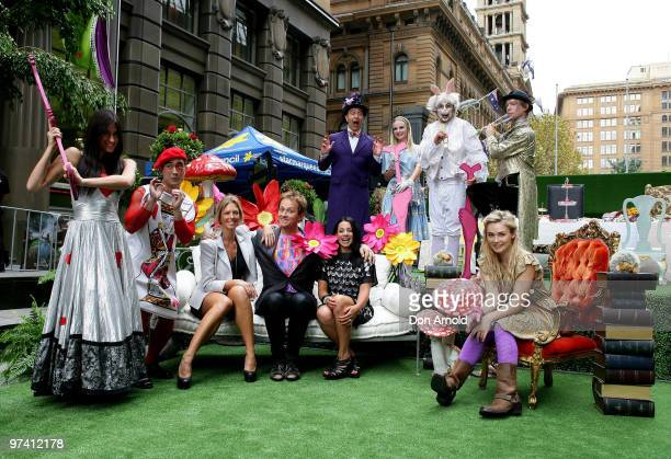 Annalise Braakensiek Mike Goldman Maz Compton and Vince Sorrenti pose alongside models at the launch of the Cancer Council's Australia's Biggest...