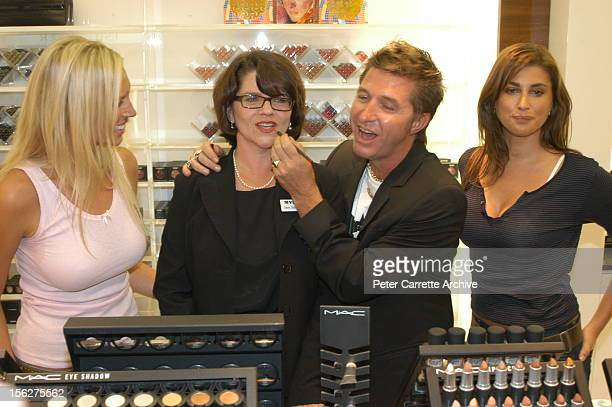 Annalise Braakensiek Myer managing director Dawn Robertson Wayne Cooper and Jodhi Meares attend the opening of the new Myer department store at Bondi...