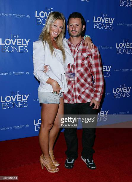 Annalise Braakinsiek and Danny Goldman pose at the Australian Premiere of 'The Lovely Bones' at Greater Union George Street on December 10 2009 in...