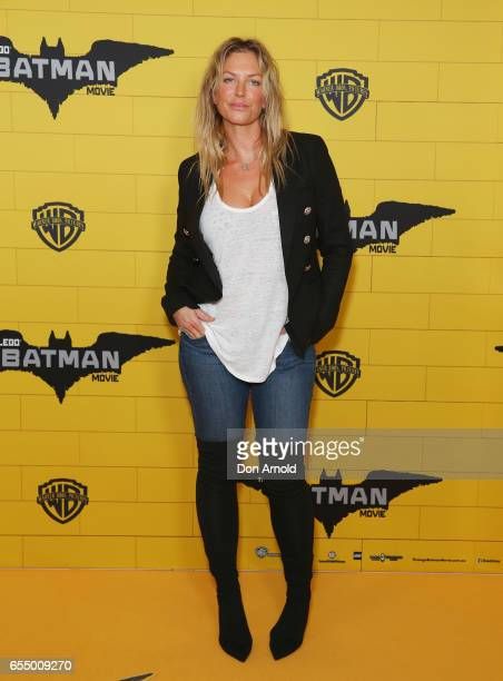 Annalise Braakinsiek arrives ahead of the LEGO Batman Movie Sydney Family Preview at Event Cinemas Bondi Junction on March 19 2017 in Sydney Australia