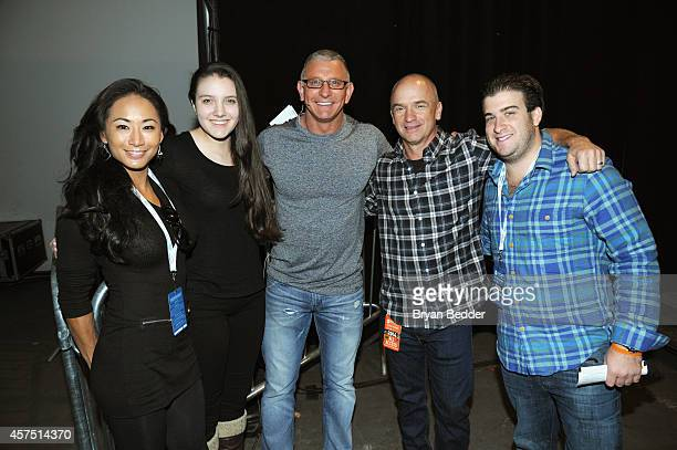 Annalise Irvine, Chef Robert Irvine and Devin Padgett pose backstage with guests at the Grand Tasting presented by ShopRite featuring KitchenAid®...