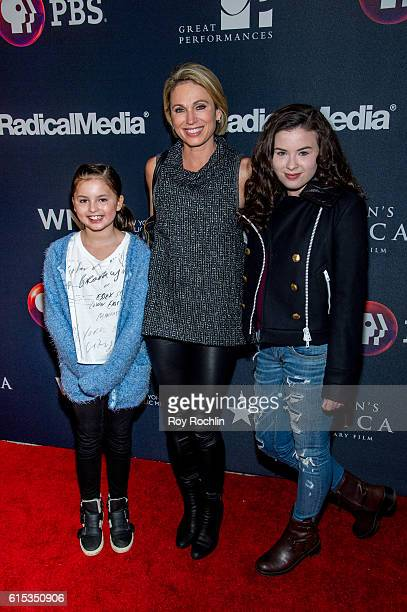 Annalise Mcintosh Amy Robach and Ava Mcintosh attend attend Great Performances Hamilton's America at United Palace Theater on October 17 2016 in New...